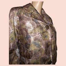 1950s Italian silk coat Golet Bartalana L floral