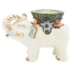 Antique White Ceramic Glazed Elephant Spill Vase
