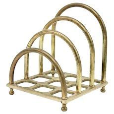 Art Deco Large Brass Letter Rack