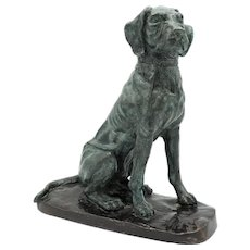 Vintage Maitland-Smith Bronze Sporting Dog