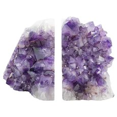 Amethyst Geode Bookends- 2