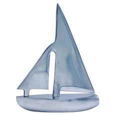 1940s Chrome Stylized Sailboat Model