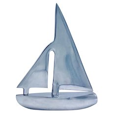 Vintage Stylized Clipper Sailboat Model
