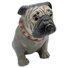 1930s Chalkware Carnival Prize Bulldog Statue