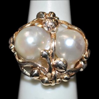 Handmade 14kt Cultured South Sea Pearl Ring
