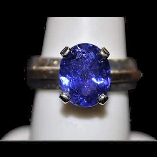 Handmade 14kt, 18kt and 925 Sterling Silver Tanzanite ring