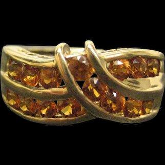 Vintage 14K Yellow Gold Spessartite Garnet Ring