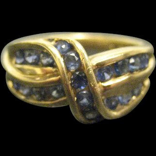 Vintage 14K Yellow Gold Sapphire Ring