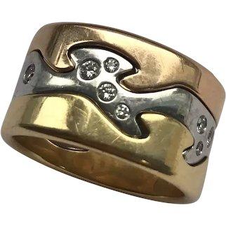 Georg Jensen 18ct Gold Diamond Fusion Ring