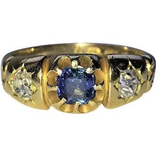 Victorian 18CT Diamond and Sapphire ring .