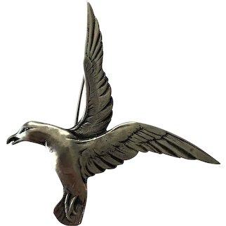 Bernard Instone Seagull Brooch