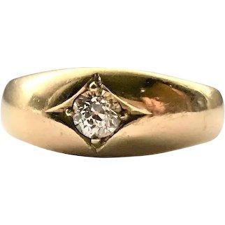 Victorian 18CT Solitaire Diamond Ring