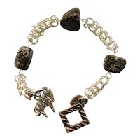 Boxchain Chainmaille with Natural Stone
