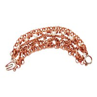 Copper and Silver Plated Chainmaille Cuff Bracelet