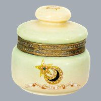 Alpha Delta Phi Fraternity Humidor Jar by Handel Lamp Co 19th C