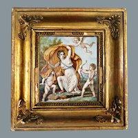 Old Masters Renaissance Painting GALATEA Italian School Ca 18th C / 19th C