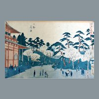 Utagawa Hiroshige I Woodblock Print Famous Places of Edo Series Ca 1850