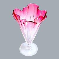 Steuben Crystal Vase Frederick Carder Ca 1903-1932 11.5''H