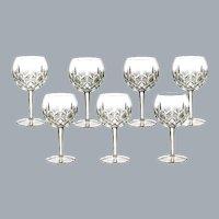 Waterford Irish Crystal Lismore Hock Wine Glasses Set of 7