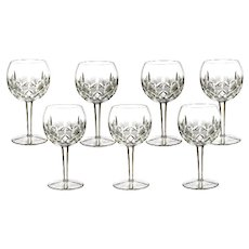 Waterford Irish Crystal Lismore Hock Wine Glasses Set of 7