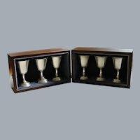 6 Tuttle Sterling Silver Wine Goblets 1969-74