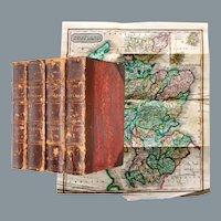 1827 History of Scotland George Buchanan 4 Volumes Map English First Edition Thus