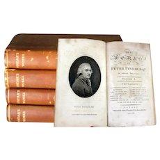 1794 British Satire John Wolcot (1738 - 1819) Peter Pindar 4 Volumes