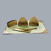 Arts and Crafts Metalwork Desk Set Roycroft Hand Hammered Early 20th C