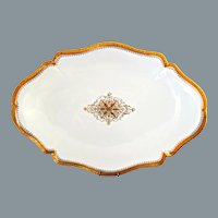 Limoges Gold Encrusted Porcelain Large Platter W. M. Guerin France