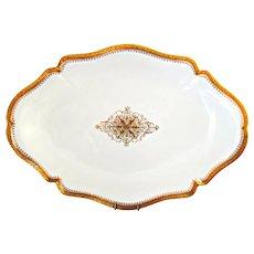 Limoges Gold Encrusted Porcelain Large Platter W. M. Guerin France