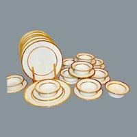 10 Antique Minton Dinnerware Ramekin and Saucer Set
