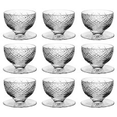 9 Waterford Crystal Alana Finger Bowls Hand Cut in Ireland