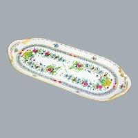 Herend Indian Basket Sandwich Tray UNUSED