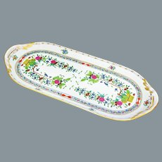 Herend Indian Basket Sandwich Tray UNUSED