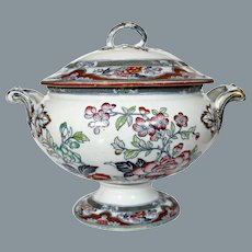 Antique English Soup Tureen Hand Painted  Spode Late 18th / Early 19th Century