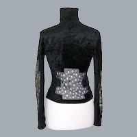 Black Turtleneck Sweater by Christian Dior Boutique Size US 10 Medium