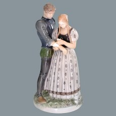 Large Royal Copenhagen Figurine Knight and the Maiden Holger Christensen 19.5''H / 49 cm RETIRED
