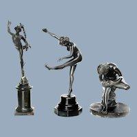 Antique Grand Tour Bronze Set Spinario The Boy with a Thorn Ca 1890's