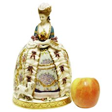 Antique German Porcelain Figurine Aristocratic Lady of 18Th Century 10.5'' T