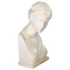 Alabaster Sculpture Venus of Pompeii Giuseppe Bessi 19th C