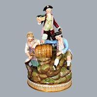 Meissen Group Figurine Three Winemakers Michel Victor Acier Ca 1769
