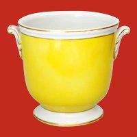 Vintage Yellow Porcelain Planter Cache Pot