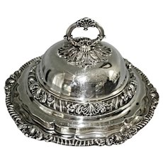Georgian English Sterling Silver Dome Entree Lidded Dish London , John Houle Ca 1822