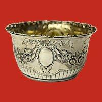 Antique Repousse Sterling Silver Nut Bowl Gorham Ca 1889