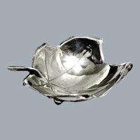 Alfredo Sciarrotta Handcrafted Sterling Silver Leaf Bowl # 1 Ca 1950