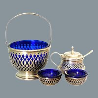 Sterling Silver Condiment Set Ca 1920's Frank Whiting