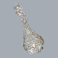 Antique Sterling Silver Tea Caddy Spoon Gorham Spaulding Co Ca 1892