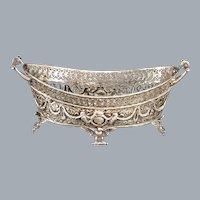 Antique Sterling Silver Centerpiece Jardiniere Import Marked Ca 1903