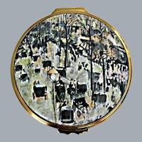 Halcyon Days Enamels Limited Edition 115/500 Montmartre Boulevard Paris by Camile Pissarro 3''