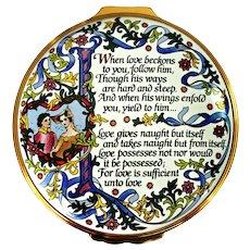 Halcyon Days English Enamel Box The Prophet Kahlil Gibran Quotes